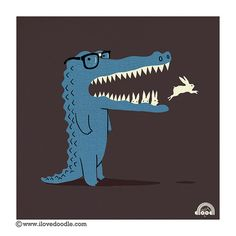 Hungry Blue Alligator.