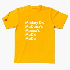 Mickey D's Nickname T-Shirt Wrap Program, Mickey Mouse T Shirt, Gold T Shirts, Human Trafficking, Make Me Happy, Vulnerability, Size Chart, Mens Tops, Innovative Products