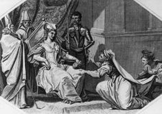 Matilda, wife of Stephen of Blois, pleads with Matilda, Lady of the English - Hulton Archive/Getty Images