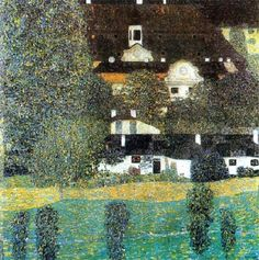 Gustav Klimt (Austrian, 1862-1918) - Schloss Kammer on Lake Attersee II, 1909