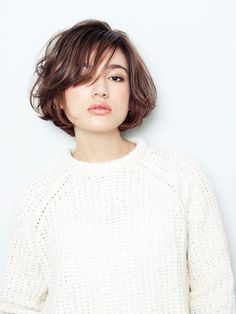 trendy-hairstyles-for-girls - Fab New Hairstyle 1 Short Bob Hairstyles, Hairstyles Haircuts, Pretty Hairstyles, Asian Short Hair, Short Hair Cuts, Medium Hair Styles, Curly Hair Styles, Hair Arrange, Modern Haircuts