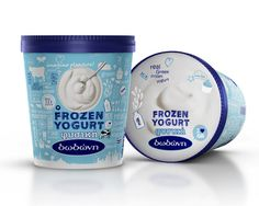 Packaging of the World: Creative Package Design Archive and Gallery: Dodoni Frozen Yogurt