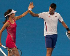 Ana Ivanovic and Novak Djokovic, Hyundai Hopman Cup 2013, Perth Arena. JODY D'ARCY    The Serbian pair fought off the home team of Bernard Tomic and Ashliegh Barty to stay on track to reach the final.    Tomic defeated Djokovic in the opening match before Ivanovic squared the tie.     Serbia than clinched the tie with a 6-4 6-7(8) [10-8] win in the mixed doubles.