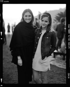 Allison Williams and Emma Watson at Sean Parker's Big Sur wedding rehearsal dinner. I wonder how they all know each other...   Vanity Fair #Girls #HarryPotter