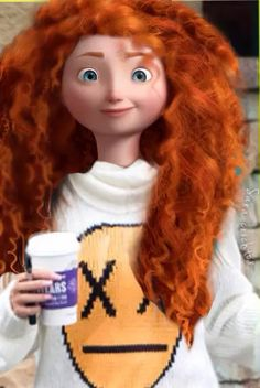 This is 15 yr old Jennifer. She's obsessed with Stranger Things and caramel swirl ice cream! Princesa Merida Disney, Princess Merida, Punk Disney Princesses, Disney Princess Drawings, Cute Disney, Walt Disney, Hiccup Y Astrid, Modern Merida, Disney Adoption