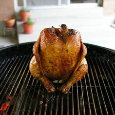 Beer But Chicken Recipe- good start. I rub the seasonings under the skin and add lemon and garlic to the beer.