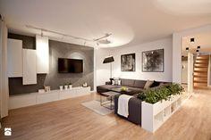 PRZESTRONNY APARTAMENT - Duży salon, styl nowoczesny - zdjęcie od IDAFO projektowanie i wykończenie wnętrz