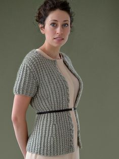 FOND ribbed edge to edge jacket knitted in Rowan Cocoon from STILL by Kim Hargreaves - English Yarns