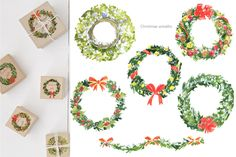 Christmas Home, Christmas Wreaths, Pop Art Girl, Floral Skull, Brick And Stone, Halloween Design, Graphic Illustration, Planner Stickers, Tea Party