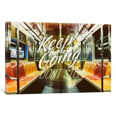 Keep Going by 5by5collective Textual Art on Wrapped Canvas