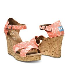 Shop Women's TOMS size 10 Wedges at a discounted price at Poshmark. Description: TOMS strappy Coral ikat wedges, never worn with box. Toms Shoes Wedges, Strappy Wedges, Wedge Sandals, Coral Wedges, Liner Socks, Womens Toms, Shoes Outlet, So Little Time, New Shoes