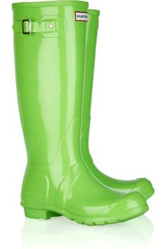 Neon Blue Women's Hunter Gumboots | Rain Boots | Pinterest ...