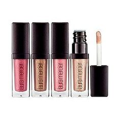 love Laura Mercier Mini Lip Glacé Set- they smell like marshmallows ...not sticky and perfect feel on lips! Love!!