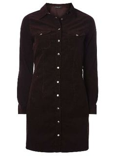 Dorothy Perkins Womens Fig Cord Western Shirt Dress- Purple Fitted cord shirt dress with waist seam. Dress fastens with silver poppers and has two bust patch. 100% Cotton. Machine washable. http://www.MightGet.com/january-2017-13/dorothy-perkins-womens-fig-cord-western-shirt-dress-purple.asp