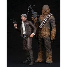 Star Wars Episode VII ARTFX+ Statuen 1/10 Doppelpack Han Solo & Chewbacca 20 - 23 cm
