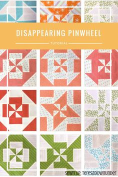 Video tutorial: Disappearing pinwheel quilt sampler - learn to make 11 different blocks in under 2 minutes