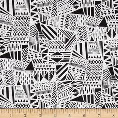 Monochrome Triangle Geo Piano from @fabricdotcom  Designed for Timeless Treasures, this cotton print fabric is perfect for quilting, craft projects, apparel and home décor accents. Colors include black and white.