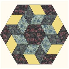 Morris Hexathon 14: Canterbury by Becky Brown       Morris Hexathon 14: Canterbury   3 Templates:A hexagon, a 60 degree diamond and a lon...