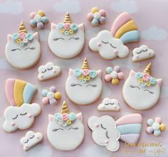 "572 Likes, 38 Comments - Natalia Campbell (@cookielicious_nz) on Instagram: ""Because unicorns makes me happy I need these cookies as it's been so dreary around here, winter…"""