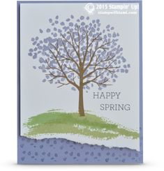 Here's a fun and easy spring card from the Sheltering Tree & Crazy About You stamp sets. Stampin Up Occasions catalog