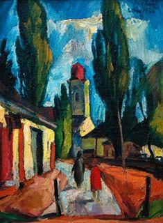 City Art, Landscape Paintings, Modern Art, Art Gallery, Texture, Walls, Illustrations, Ideas, Paisajes