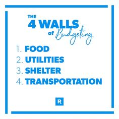 Remember the 4 WALLS and dont pay a debt before your family is fed. Remember the 4 WALLS and dont pay a debt before your family is fed. Once these are covered move on to budgeting for other categories. Life On A Budget, Living On A Budget, Family Budget, Frugal Living, Financial Literacy, Financial Planning, Dave Ramsey Plan, Business Money, Craft Business