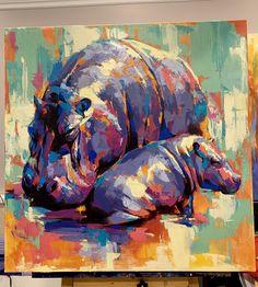 Original Paintings & Archival Fine Art Prints by DimitriSirenkoArt Elephant Poster, Elephant Wall Art, Elephant Canvas, Orca Kunst, Wall Art Prints, Fine Art Prints, School Art Projects, Colorful Animals, Bear Art