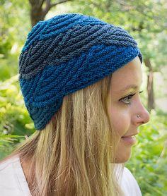 Ravelry: Nautilus Shell Hat pattern by Amy Loberg (FiberWild!), knit in Mountain Colos Crazyfoot