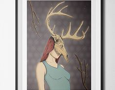 "Check out new work on my @Behance portfolio: ""The Girl with the Deer skull"" http://be.net/gallery/36785053/The-Girl-with-the-Deer-skull"