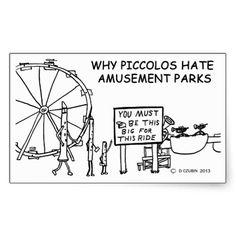 Why Piccolos Hate Amusement Parks Sticker Flute Jokes, Music Jokes, Music Humor, Funny Band Memes, Marching Band Jokes, Brass Music, Band Nerd, Love Band, Music Stuff