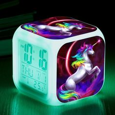 Clock LED Digital 7 Color Level Light Changing Gift - Unilovers