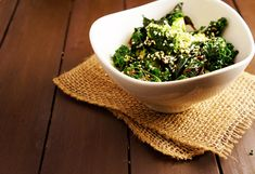 Honey Sesame Steamed Greens