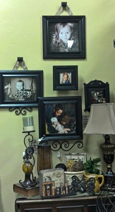 Use wall buttons with ribbon to display picture frames in a unique way!