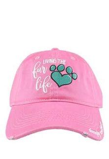 af5fff32 Simply+Southern+Fur+Life+Hat+for+Women+in+Pink+SP19-HAT-FURLIFE ...