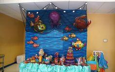 Finding Nemo Birthday Party New Finding Nemo Party Ideas Outside Birthday, Underwater Birthday, Boy Birthday Parties, 2nd Birthday, Birthday Ideas, Happy Birthday, Octonauts Party, Splash Party, Finding Nemo