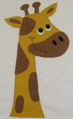 DIY Applique Patch Iron On Giraffe by OhBananasDIY on Etsy, $7.00