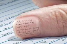 Nail Art for cheating on your math test! OMG The Best Idea Yet!