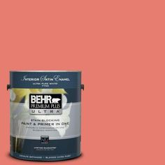 BEHR Premium Plus Ultra 1-gal. #HDC-SM14-12 Cosmic Coral Satin Enamel Interior Paint