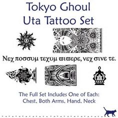 Image result for TOKYO GHOUL UTA'S TATTOOS