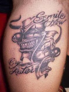 Smile Now Cry Later Tattoos For Girls Images & Pictures - Becuo