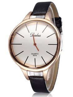 Faux Leather Curved Analog Watch #shoes, #jewelry, #women, #men, #hats, #watches