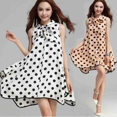 Free Shipping Cute Ladies Dress Sleeveless Tank Polyester Bowknot V-neck Girl Summer Dress Female Loosen One-piece Dresses $19.90