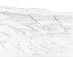#drawing by #Robert #S. #Lee #art #history #sketchbook #landscape #theater #Greece black & white Edition www.lulu.com/shop/robert-s-lee/landscapes-monuments-of-as... Color Edition www.amazon.com/gp/product/B01518XVG0?%2AVersion%2A=1&...
