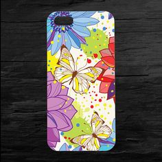Butterfly Flowers of Color iPhone 4 4s and 5 Case by theminifab, $11.00