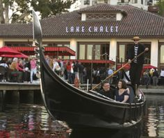 Gondola in front of Lake Chalet