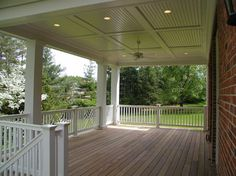 back porch Bruning Homes, Inc.