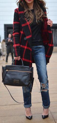 plaid, coat, trulyyoursxo, vanessa, marie, fashion