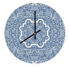 Aurelia - Clock - hand painted water colour pattern - available on Art Rookie - http://www.artrookie.co.uk/item.php?type=8&id=5521