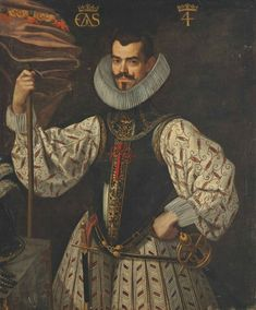 Portrait of a Duke, three-quarter length, in an embroidered doublet and breastplate, holding a banner, his plumed helmet and gloves to his side Classic Paintings, Beautiful Paintings, Renaissance Portraits, Art Of Man, Archetypes, Our Lady, 16th Century, Painting Inspiration, North America