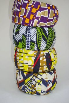 Ankara African Wax Print Chunky Bangles